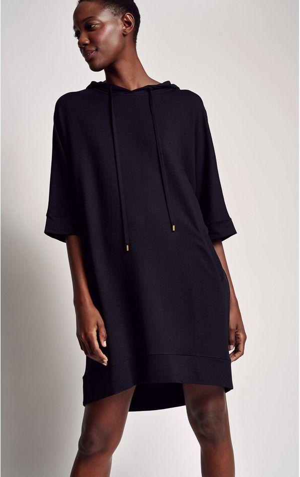 vestido-moletinho-preto-tamanho-P-Frente