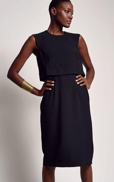 vestido-detalhe-top-preto-tamanho-P-Frente