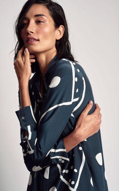 camisa-classica-seda-estampada-skorpios-tamanho-M-Frente
