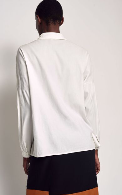 camisa-classica-seda-lisa-off-white-tamanho-P-Costas