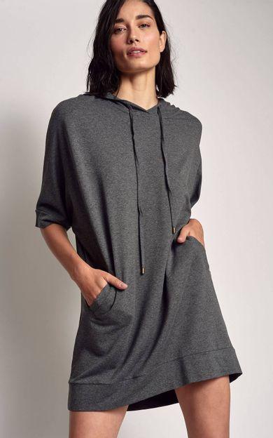 vestido-moletinho-capuz-mescla-tamanho-P-Frente