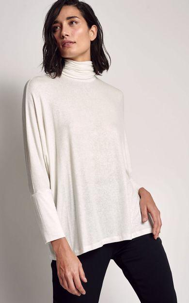 blusa-ampla-gola-alta-off-white-tamanho-PP-Frente