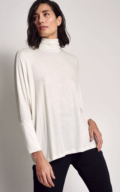 blusa-ampla-gola-alta-off-white-tamanho-P-Frente