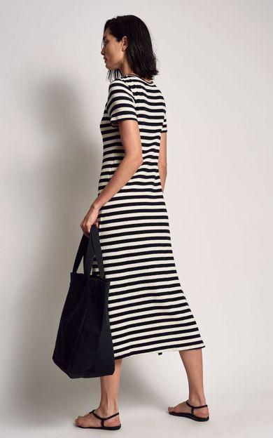 vestido-midi-listrado-listras-tamanho-P-Costas