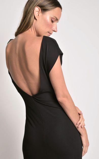 vestido-midi-franzido-preto-tamanho-PP-Costas