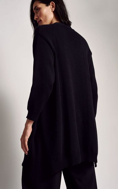 cardigan-amplo-tricot-preto-tamanho-P-Costas