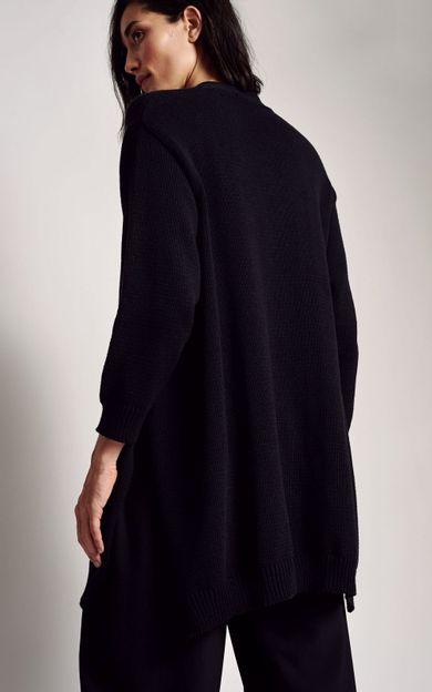 cardigan-amplo-tricot-preto-tamanho-M-Costas