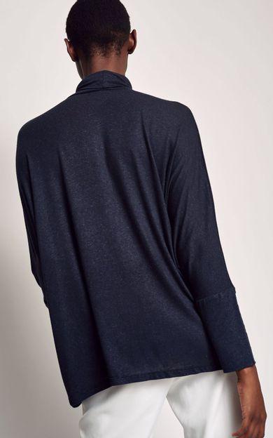 blusa-ampla-gola-alta-preto-tamanho-P-Costas