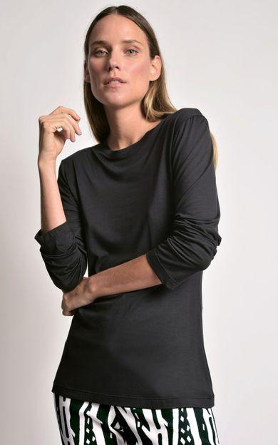 blusa-manga-longa-modal-preto-tamanho-PP-Frente