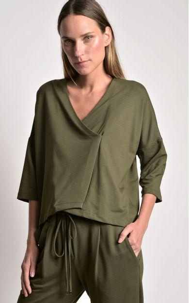blusa-transpasse-malha-verde-folha-tamanho-PP-Frente