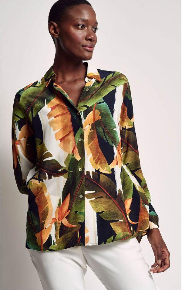 camisa-classica-estampada-bardot-tamanho-P-Frente
