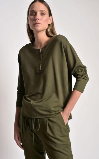 pull-moletinho-ziper-verde-folha-tamanho-G-Frente