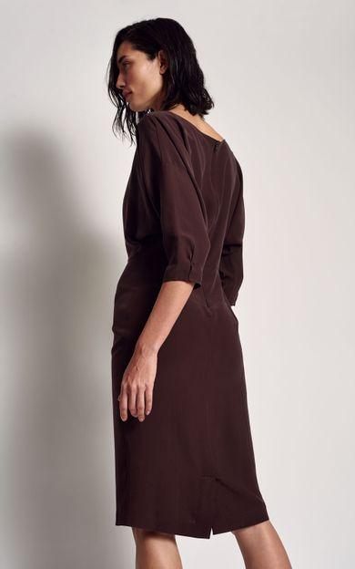vestido-manga-morcego-chocolate-tamanho-PP-Costas