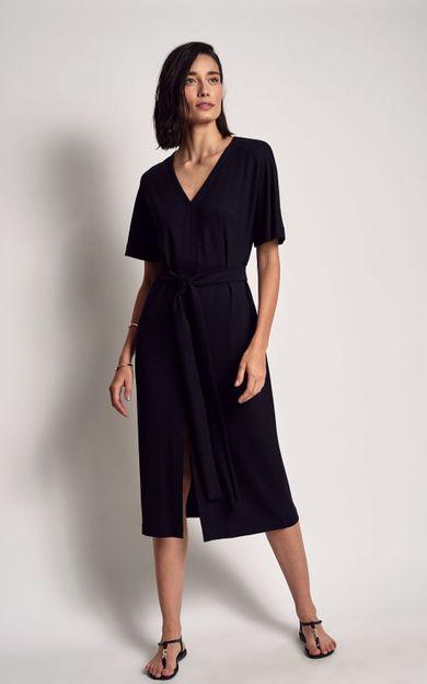 vestido-moletinho-pesponto-preto-tamanho-PP-Frente