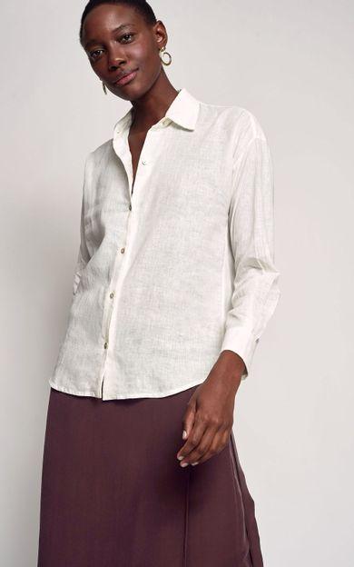 camisa-linho-basic-off-white-tamanho-M-Frente