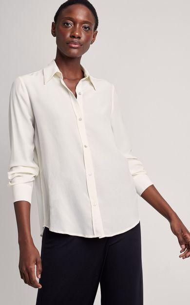 camisa-classica-seda-lisa-off-white-tamanho-PP-Frente