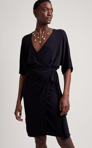 vestido-amarracao-lateral-preto-tamanho-P-Frente