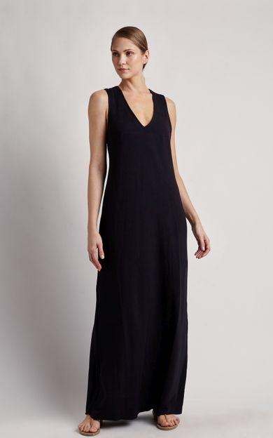 vestido-longo-transpasse-costas-preto-tamanho-PP-Frente