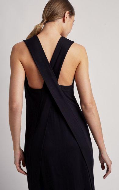 vestido-longo-transpasse-costas-preto-tamanho-PP-Costas