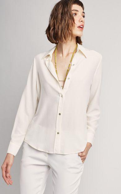 camisa-classica-seda-lisa-premium-off-white-tamanho-PP-Frente