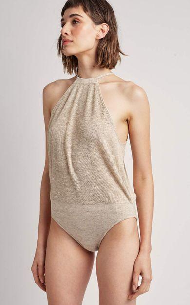 body-tricot-areia-tamanho-M-Costas