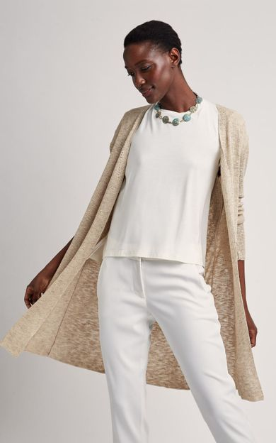 cardigan-tricot-areia-tamanho-M-Costas