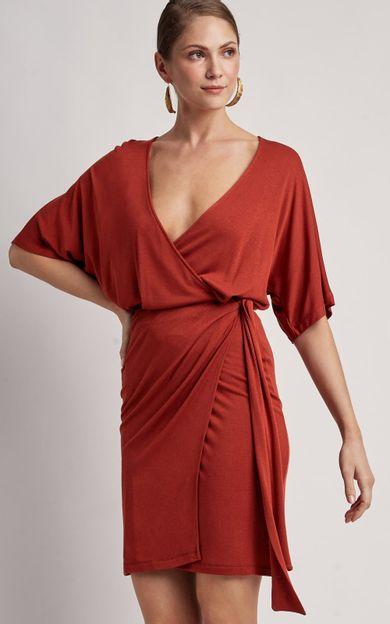 vestido-amarracao-lateral-canela-tamanho-P-Frente