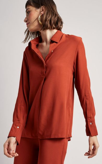 camisa-crepe-premium-canela-tamanho-PP-Frente