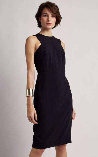 vestido-justo-assimetrico-preto-tamanho-PP-Frente
