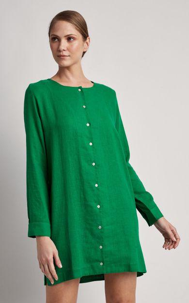 chemisier-linho-curto-liso-verde-paraiso-tamanho-PP-Frente