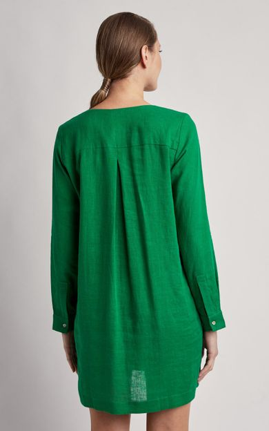 chemisier-linho-curto-liso-verde-paraiso-tamanho-PP-Costas