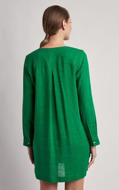 chemisier-linho-curto-liso-verde-paraiso-tamanho-P-Costas
