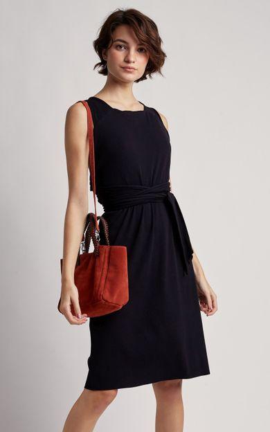 vestido-faixa-amarracao-preto-tamanho-PP-Frente