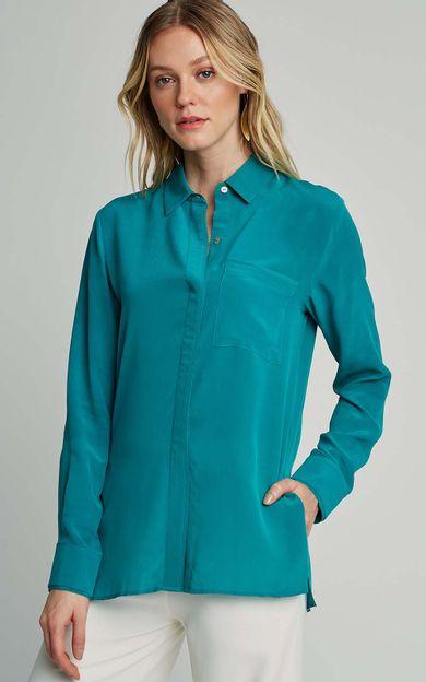 camisa-classica-seda-lisa-premium-jade-tamanho-P-Frente