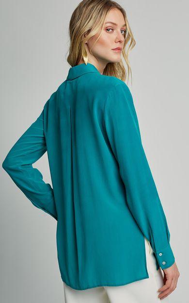 camisa-classica-seda-lisa-premium-jade-tamanho-P-Costas