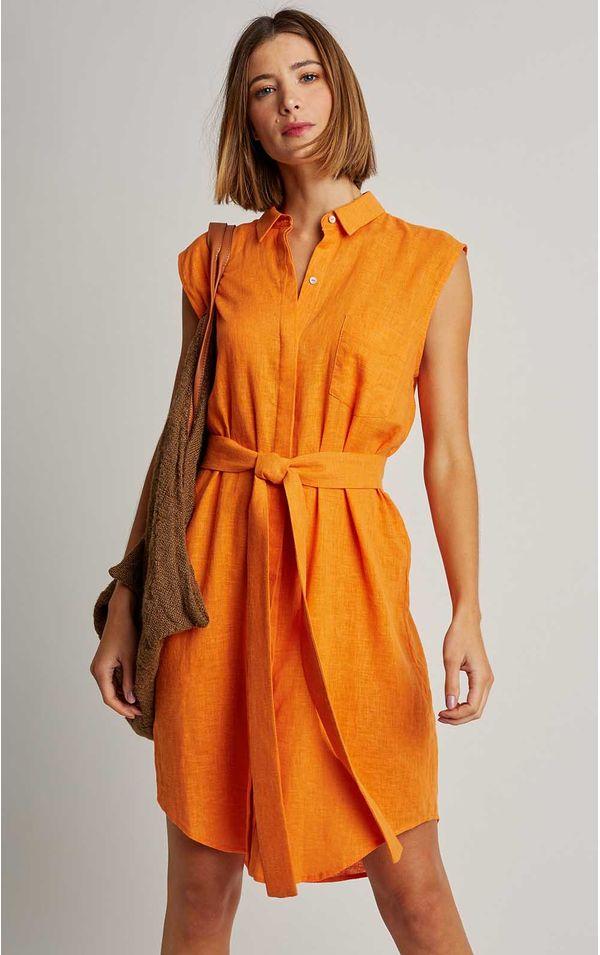 chemisier-fraldado-curto-liso-tangerina-tamanho-PP-Frente