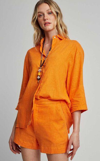 camisa-solta-quadrada-tangerina-tamanho-PP-Frente