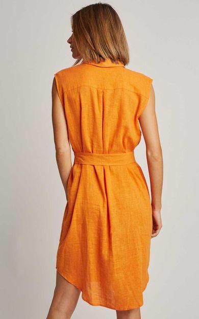 chemisier-fraldado-curto-liso-tangerina-tamanho-PP-Costas