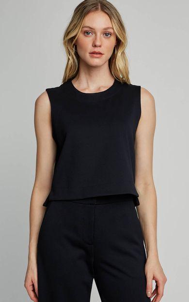 blusa-malha-cropped-preto-tamanho-PP-Frente