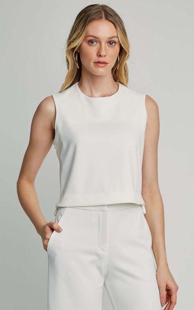 blusa-malha-cropped-off-white-tamanho-PP-Frente