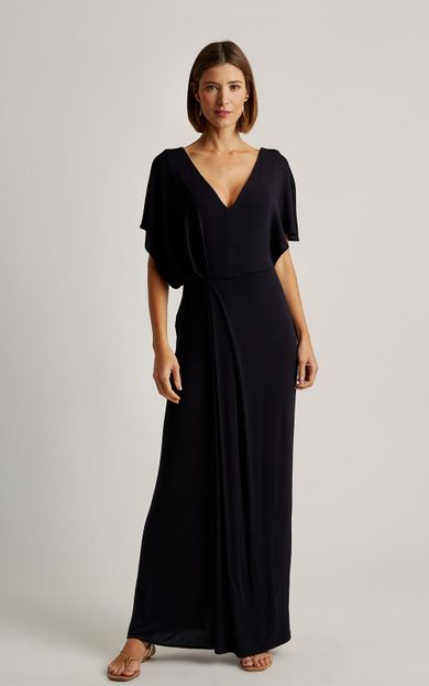 vestido-detalhe-franzido-preto-tamanho-PP-Frente