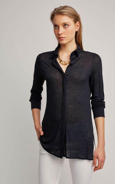 camisa-malha-linho-preto-tamanho-PP-Frente