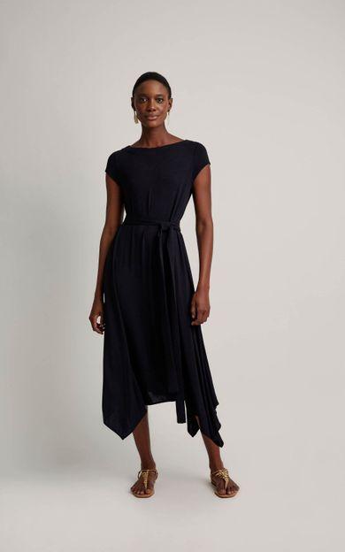 vestido-malha-pontas-preto-tamanho-P-Frente
