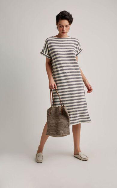 vestido-listras-listrado-tamanho-M-Frente