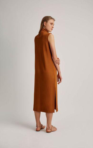 vestido-moletinho-gola-alta-cobre-tamanho-P-Costas