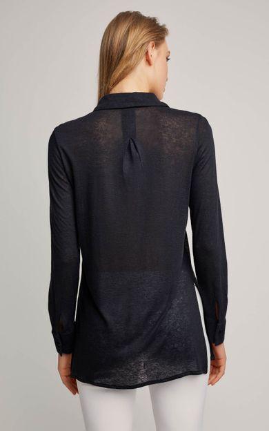 camisa-malha-linho-preto-tamanho-PP-Costas